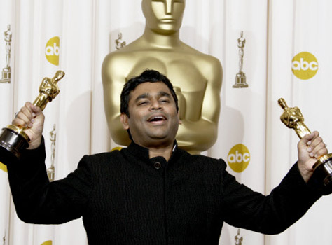 Rahman with 2 Oscars