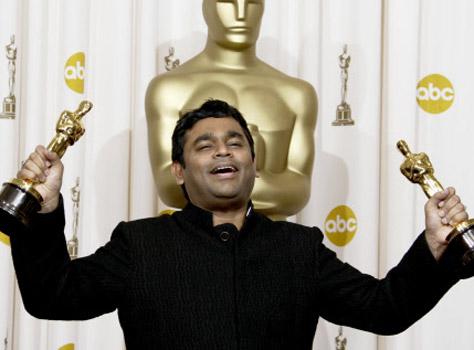 Rahman with 2 Oscars